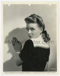 6h836 SON OF DRACULA 8x10 still 1943 close portrait of scared Evelyn Ankers, Universal horror!