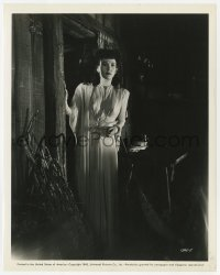 6h837 SON OF DRACULA 8x10 still 1943 close up of Louise Allbritton visiting Zimba's hut!