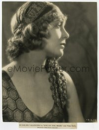 6h839 SON OF THE SHEIK 7x10 key book still 1926 best profile portrait of Vilma Banky as Yasmin!