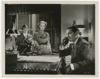 6h843 SPECIAL AGENT 8x10.25 still 1935 Bette Davis watches Ricardo Cortez making a phone call!