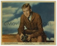 6h074 SPIRIT OF ST. LOUIS color 8x10 still #5 1957 James Stewart as Charles Lindbergh, Billy Wilder