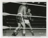 6h846 SQUARE JUNGLE 8x10 key book still 1956 boxer Tony Curtis gives finishing blows in the ring!