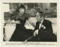 6h847 STAGE DOOR 8x10 still 1937 puzzled Katharine Hepburn pointing down at Adolphe Menjou!