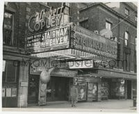 6h848 STAIRWAY TO HEAVEN candid 7.75x9.5 still 1947 incredible elaborate theater front display!