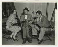 6h915 TO MARY - WITH LOVE candid 8x10 still 1936 director Cromwell with Myrna Loy & Warner Baxter!