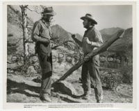 6h930 TREASURE OF THE SIERRA MADRE 8.25x10 still 1948 Humphrey Bogart turns the tables on Tim Holt!
