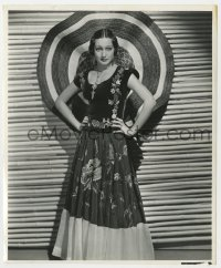 6h932 TROPIC HOLIDAY 8x9.5 still 1938 Dorothy Lamour, from jungle princess to senorita by Richee!