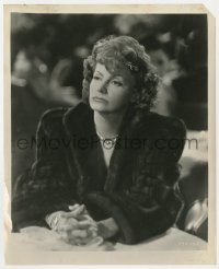 6h934 TWO-FACED WOMAN 8.25x10 still 1941 close up of Greta Garbo in fur coat looking concerned!