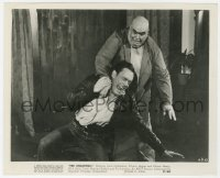 6h939 UNEARTHLY 8.25x10 still 1957 great image of monster Tor Johnson taking man to the ground!