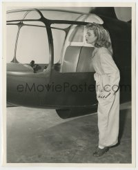 6h940 UP GOES MAISIE deluxe 8.25x10 still 1946 Ann Sothern peeks at helicopter instrument panel!