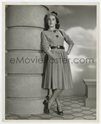 6h954 VIVECA LINDFORS 8.25x10 still 1947 modeling a dress of beige wool by Eugene Robert Richee!