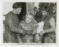 6h959 WAR LORD candid 8x10 still 1965 Charlton Heston & Richard Boone show script to his brother!