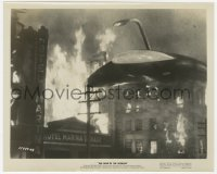6h960 WAR OF THE WORLDS 8x10 still 1953 c/u of alien starship flying over the Hotel Marina!