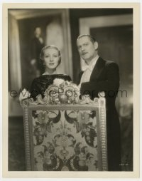 6h961 WASHINGTON MASQUERADE 8x10.25 still 1932 Karne Morely & Lionel Barrymore by ornate chair!