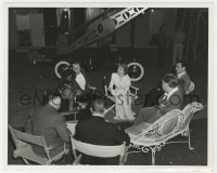 6h962 WE WERE DANCING candid deluxe 8x10 still 1942 Norma Shearer, Douglas, Bowman & Leonard on set!