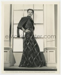 6h971 WHEN TOMORROW COMES 8x10 still 1939 Irene Dunne in plaid chiffon dinner dress by Ray Jones!