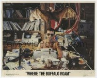 6h079 WHERE THE BUFFALO ROAM 8x10 mini LC 1980 best portrait of Bill Murray as Hunter S. Thompson!