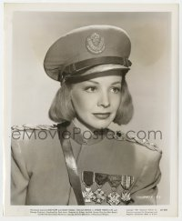 6h973 WHERE THERE'S LIFE 8.25x10 still 1947 head & shoulders c/u of decorated soldier Signe Hasso!