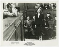 6h981 WITNESS FOR THE PROSECUTION 8x10.25 still 1958 Tyrone Power & Marlene Dietrich in courtroom!