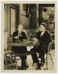 6h984 ANNA CHRISTIE candid 8x10.25 still 1930 Greta Garbo & director Clarence Brown look at boom mic