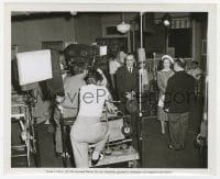 6h987 WOMAN'S VENGEANCE candid 8.25x10 still 1947 Charles Boyer & Ann Blyth w/camera between scenes!