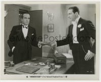 6h991 WONDER BAR 8x10.25 still 1934 Al Jolson handing stack of cash to Ricardo Cortez at club!