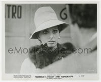 6h994 YESTERDAY, TODAY & TOMORROW 8.25x10 still 1964 sexy Sophia Loren in fur & hat, De Sica