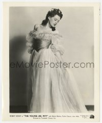6h997 YOUNG MR. PITT 8.25x10 still 1943 full-length Phyllis Calvert modeling a beautiful gown!