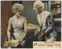 6h020 EARLY BIRD color English FOH LC 1965 wacky image of two people covered in dairy!
