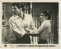 6h037 I MARRIED A MONSTER FROM OUTER SPACE English FOH LC 1958 c/u of Tom Tryon & Gloria Talbott!
