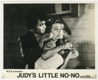 6h038 JUDY'S LITTLE NO-NO English FOH LC 1969 Elisa Ingram threatened by gangster John Lodge!