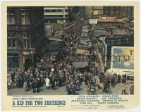 6h023 KID FOR TWO FARTHINGS color English FOH LC 1955 Carol Reed, overhead shot of crowded street!