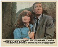 6h024 LIMBO LINE color English FOH LC 1968 close up of Craig Stevens & scared Kate O'Mara!