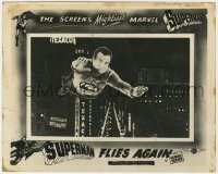 6h041 SUPERMAN FLIES AGAIN English FOH LC 1954 great FX image of George Reeves flying, ultra rare!