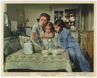 6h032 WINGS OF EAGLES color English FOH LC 1957 Maureen O'Hara & daughters w/newspaper, John Ford!