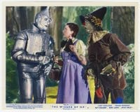 6h014 WIZARD OF OZ color English FOH LC R1955 Tin Man tells Dorothy & Scarecrow he needs a heart!