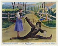 6h010 WIZARD OF OZ color English FOH LC R1955 Dorothy helps fallen Scarecrow get back up!