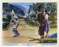 6h009 WIZARD OF OZ color English FOH LC R1955 Dorothy & Scarecrow watch smiling Tin Man on road!