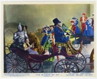6h012 WIZARD OF OZ color English FOH LC R1955 Dorothy, Scarecrow, Tin Man & Lion on carriage!