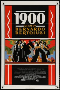 6j004 1900 1sh 1977 directed by Bernardo Bertolucci, Robert De Niro, cool Doug Johnson art!
