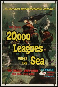 6j007 20,000 LEAGUES UNDER THE SEA 1sh R1971 Jules Verne classic, wonderful art of deep sea divers!