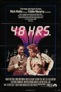 6j010 48 HRS. 1sh 1982 Nick Nolte is a cop who hates Eddie Murphy who is a convict!
