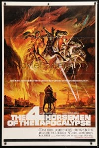 6j008 4 HORSEMEN OF THE APOCALYPSE 1sh 1961 incredible & striking artwork by Reynold Brown!