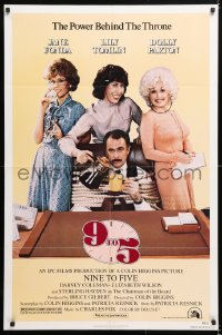 6j012 9 TO 5 1sh 1980 Dolly Parton, Jane Fonda & Lily Tomlin w/tied up Dabney Coleman!