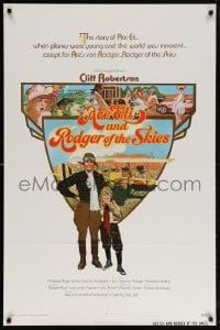6j016 ACE ELI & RODGER OF THE SKIES 1sh 1972 pilot Cliff Robertson, written by Steven Spielberg!