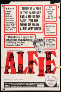 6j023 ALFIE 1sh 1966 British cad Michael Caine loves them & leaves them, ask any girl!
