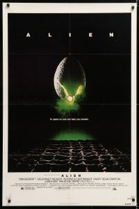6j027 ALIEN NSS style 1sh 1979 Ridley Scott outer space sci-fi monster classic, cool egg image!