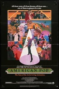 6j039 AMERICAN POP 1sh 1981 cool rock & roll art by Wilson McClean & Ralph Bakshi!