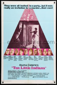 6j041 AND THEN THERE WERE NONE style B 1sh 1975 Herbert Lom, Elke Sommer, Ten Little Indians!