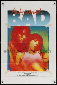 6j042 ANDY WARHOL'S BAD 1sh 1977 Carroll Baker & King, sexploitation comedy!